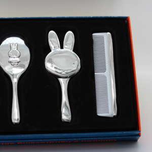 Set coiffure bébé argenté