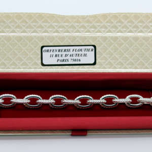 Bracelet torsades métal argenté