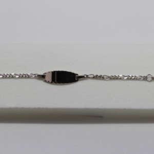 bracelet naissance argent prénom plaque d'identité