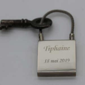 porte-clés personnalisable gravure