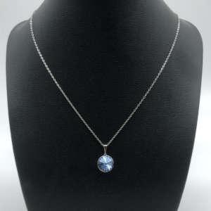 Collier bleu en cristal Swarovski