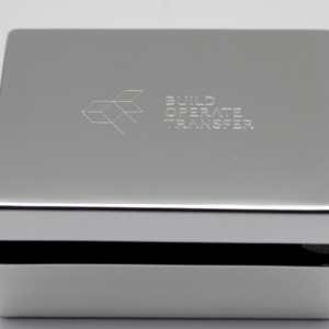 boîte métal argenté gravable