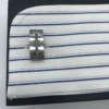 boutons de manchettesen acier motif cable
