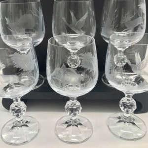 verre en cristal gravé animaux