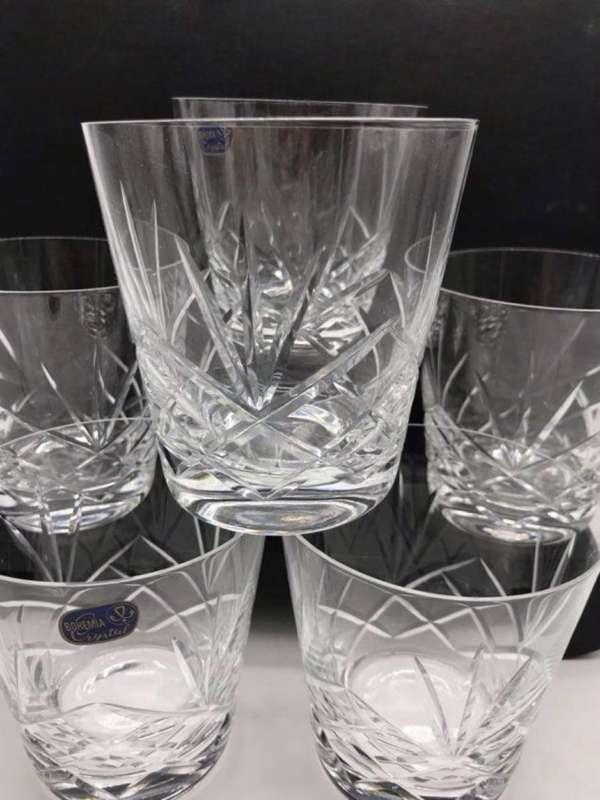 Verres à whisky en cristal de Boheme