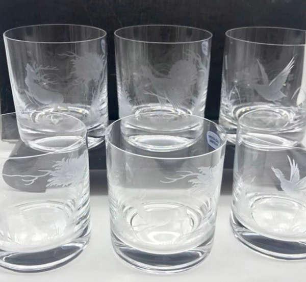 Verres de whisky en cristal