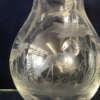 carafe à eau en cristal gravé