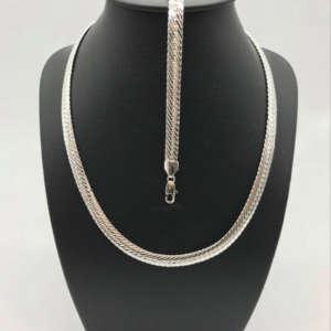 bijoux en métal argenté ne noircit pas. Collier et bracelet.