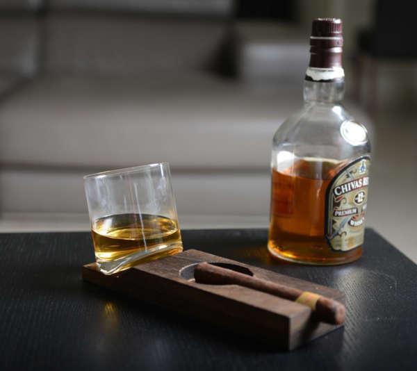coffret cadeau 1 verre à whisky et cigare
