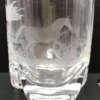 verre à whisky en cristal décor cheval gravé