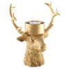 Bougeoir en forme de cerf fait en résine doré