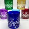 Verres à whisky en couleur, en cristal de Boheme, artisans qualifiés, bleu