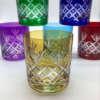 Verres à whisky en couleur, en cristal de Boheme, artisans qualifiés