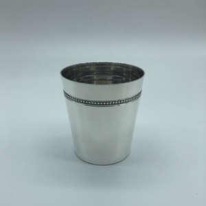 timbale perlé modèle à perles timbale baptême et naissance cadeaux argent massif timbale décorée petite timbale pour petits enfants